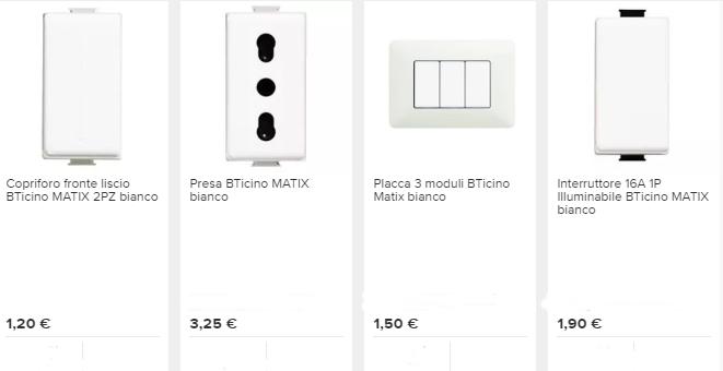 materiale elettrico prezzi