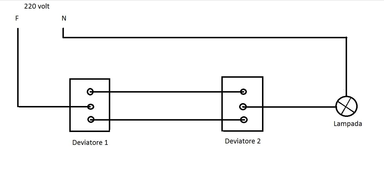 Schema Elettrico Per 3 Punti Luce : Schema deviatori con lampada ld solutions