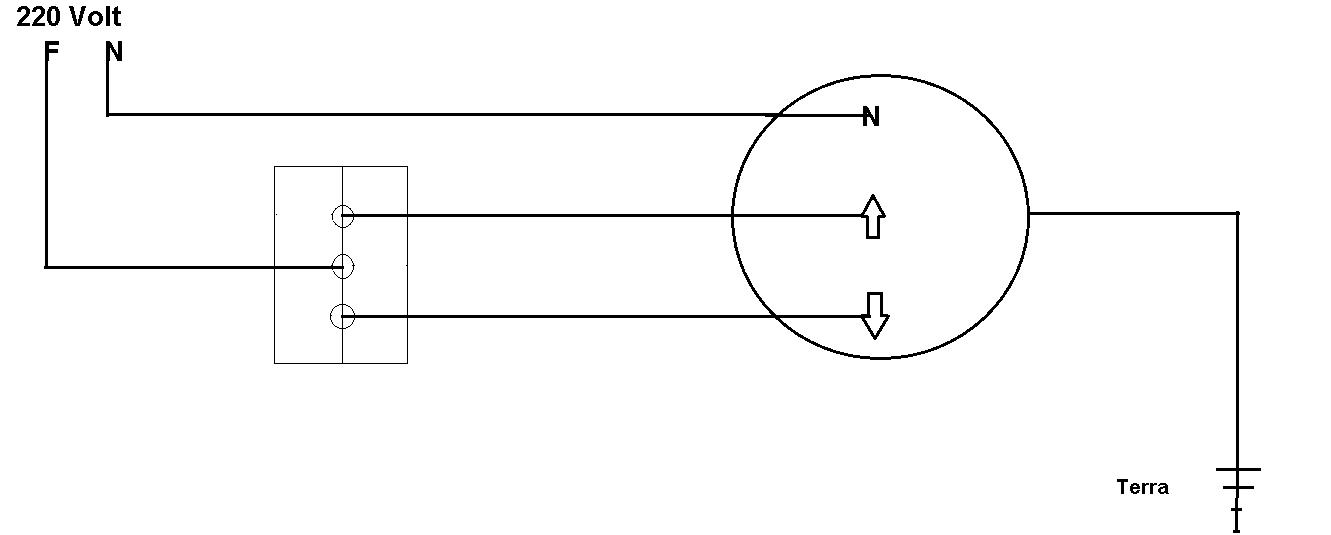 Impianto elettrico per tapparelle disegno