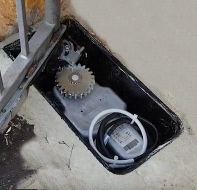 motore per cancello interrato